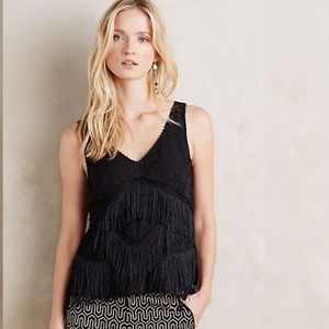 HD in Paris Tiered Fringe Shell Black 2
